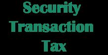 Security Transaction Tax STIIN